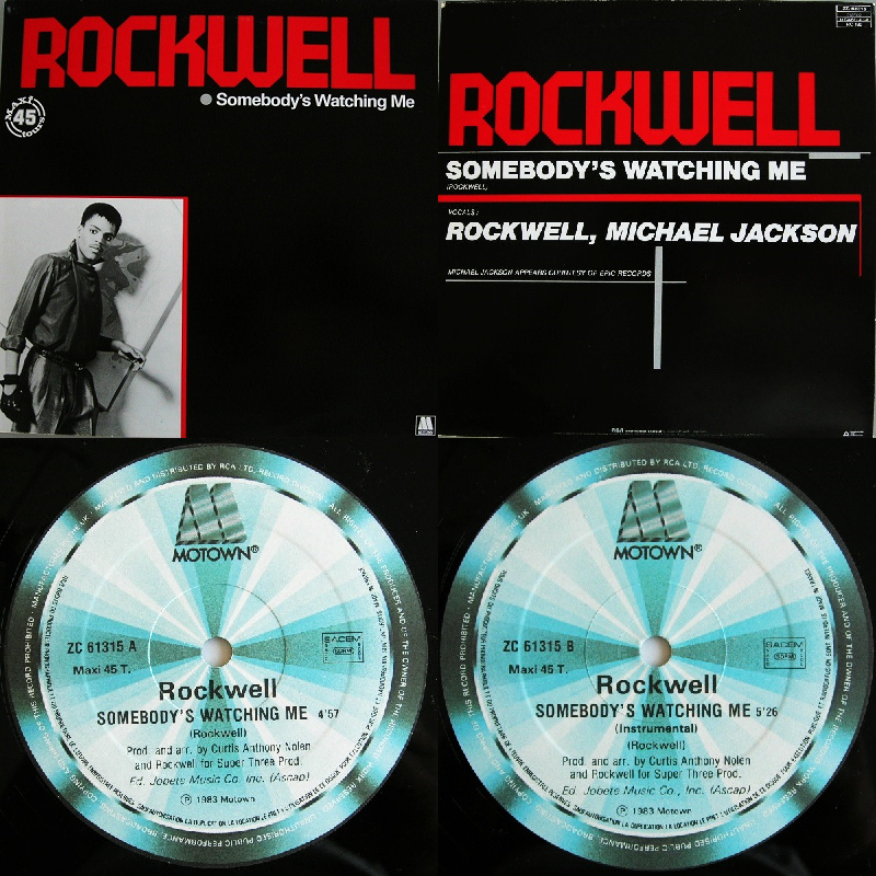 "Rockwell Somebodys Watching Me Single 12"" 1983 Flac Vvv-4410219"